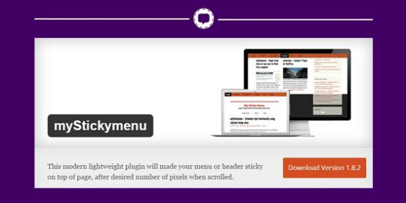 mySticky menu - sticky header plugin