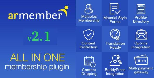 ARMember-v2.1-WordPress-Membership-Plugin