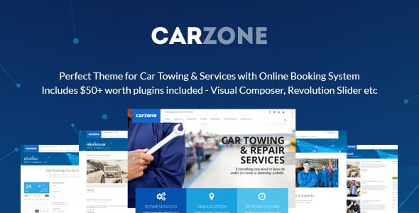 CarZone Auto Towing Repair WordPress Theme