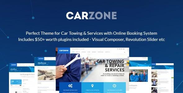 CarZone Auto Towing Repair WordPress Theme