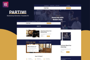 Partiwi-Barbershop-Elementor-Template Beauty Salon Theme - Best Hair Salon/Beauty WordPress Themes