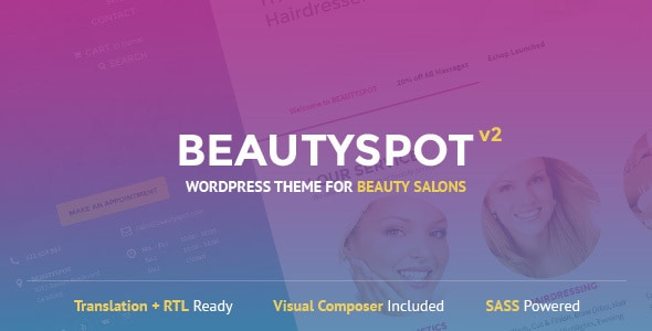beauty spot - salon-beauty-salon-wordpress-theme