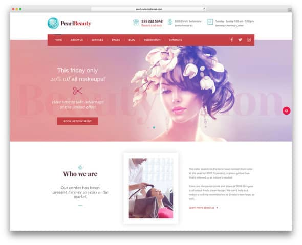 pearl-spa-salon-wordpress-website-theme