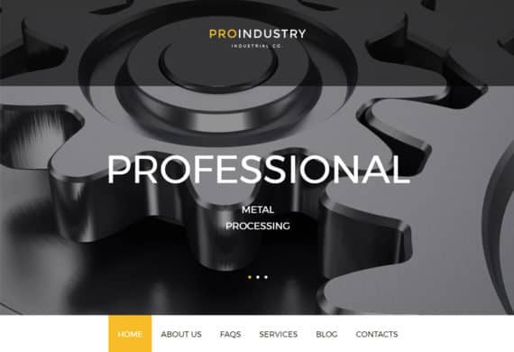proindustry-wordpress-responsive-theme-front