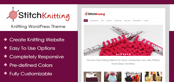 stich knitting - industrial manufacturing WP theme