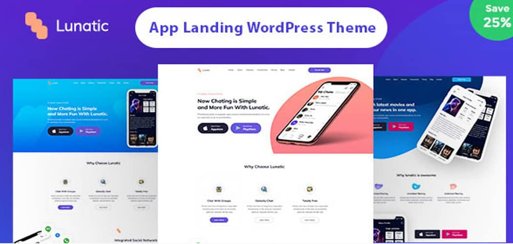 Landing Page WordPress Themes For Apps and Products