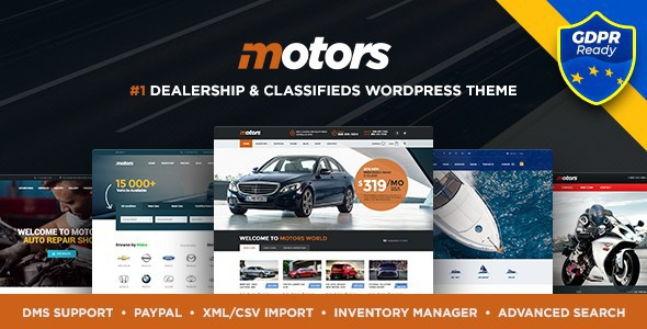 Motors - Automotive WP Theme