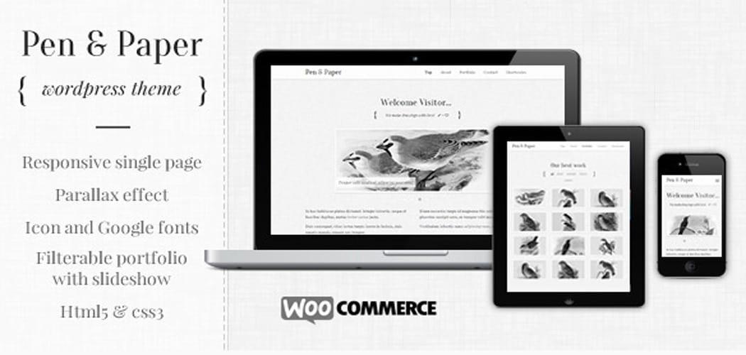 Best One Page Parallax WordPress Themes For Portfolio Sites