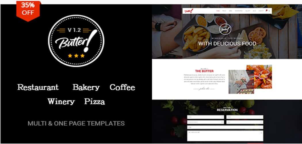 WordPress themes for restaurant sites