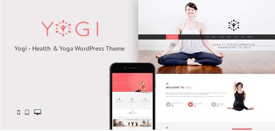 great WordPress themes for yoga business