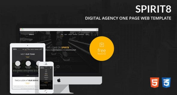 Spirit8-Digital-Agency-One-Page-Web-Template