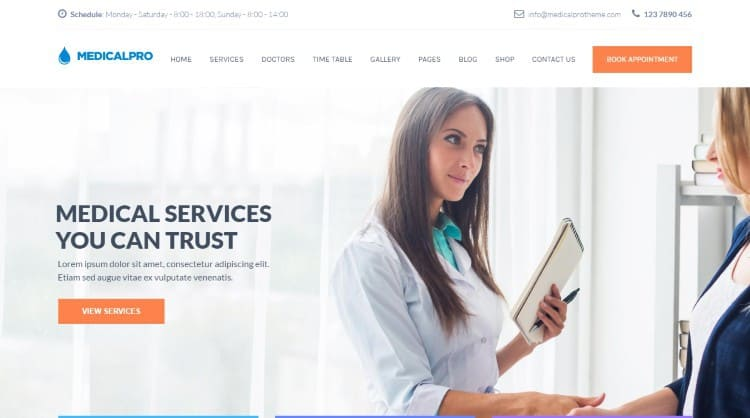 medicalpro-wordpress-theme