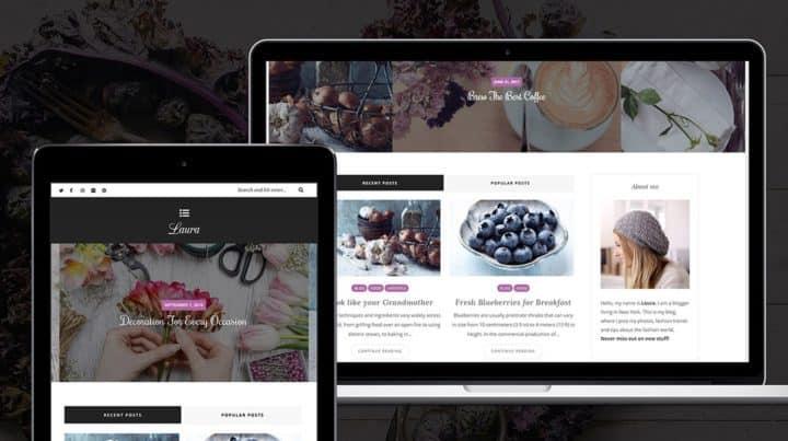 laura feminine fashion wordpress blog theme