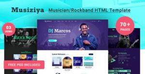 Musiziya-Musician-HTML-Template
