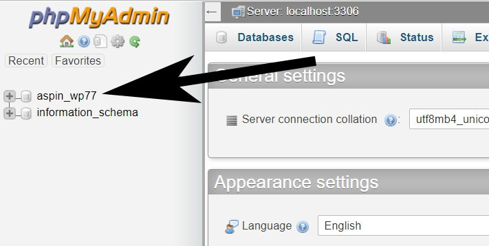 Select a Database