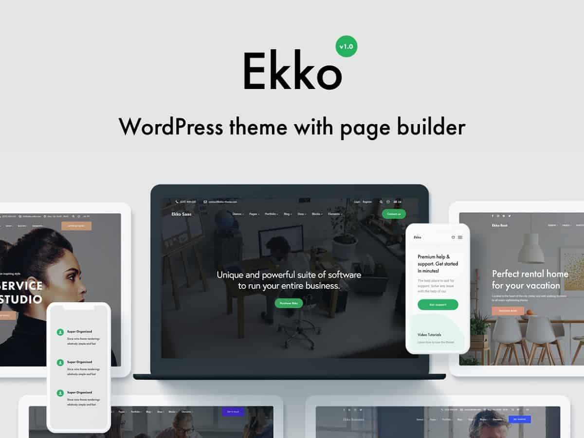 ekko wordpress customized theme