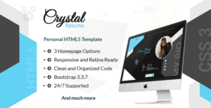 Crystal - Creative Portfolio, Resume and CV HTML Template