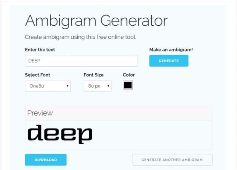 online ambigram