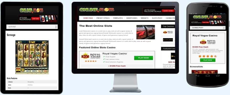online slots theme