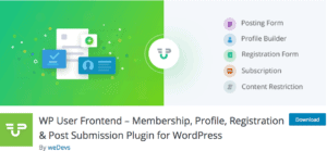 User-Frontend-–-Membership-Profile-Registration-Post-Submission-Plugin-for-WordPress