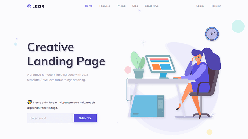 best landing page templates