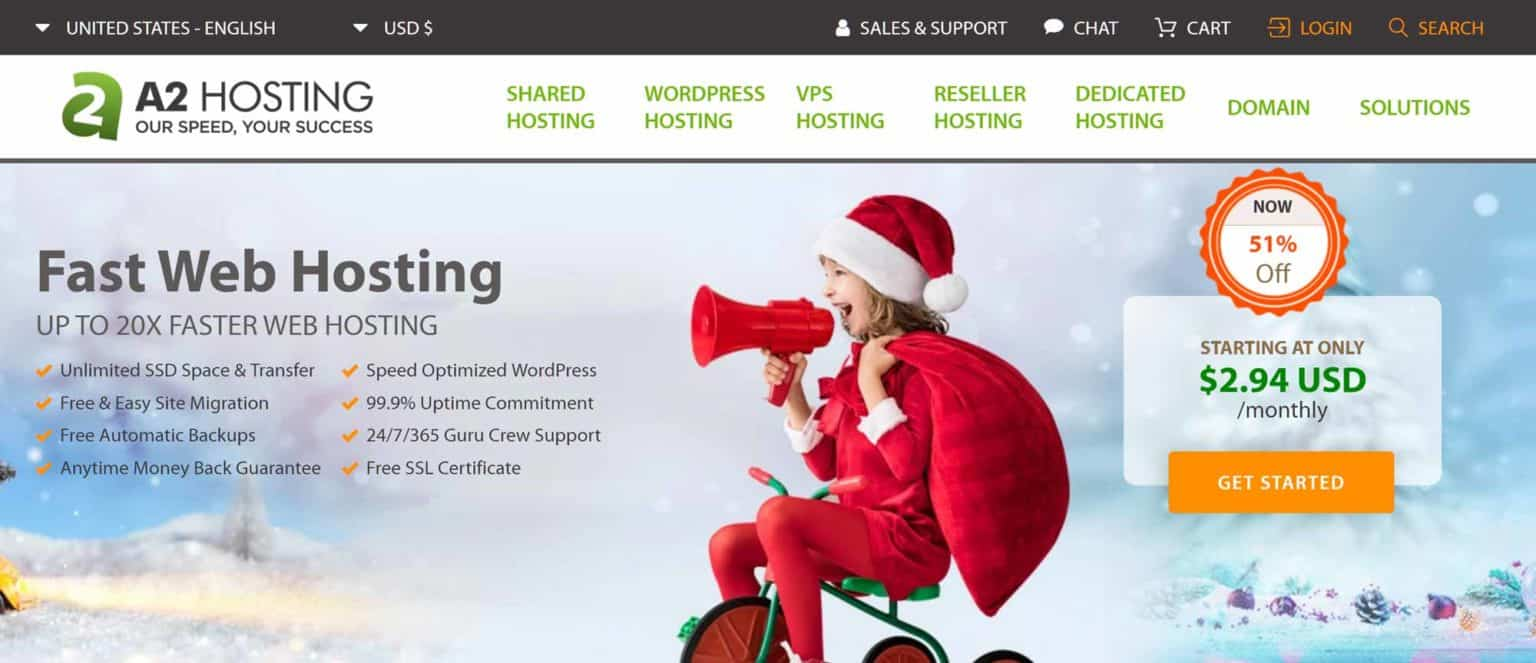 A2-Hosting-best wordpress hosting service