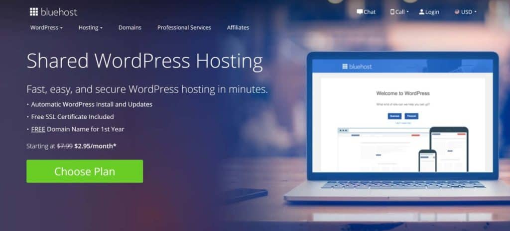 Bluehost-best email hosting