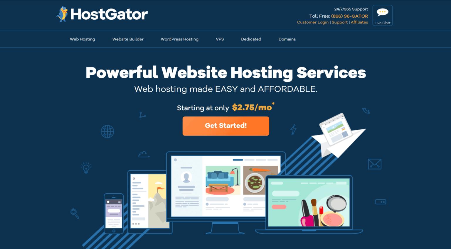 HostGator- wordpress hosting