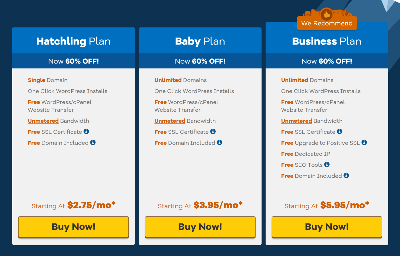 HostGator-web hosting pricing