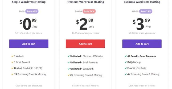 Hostinger - Cheapest WordPress Hosting Pricing