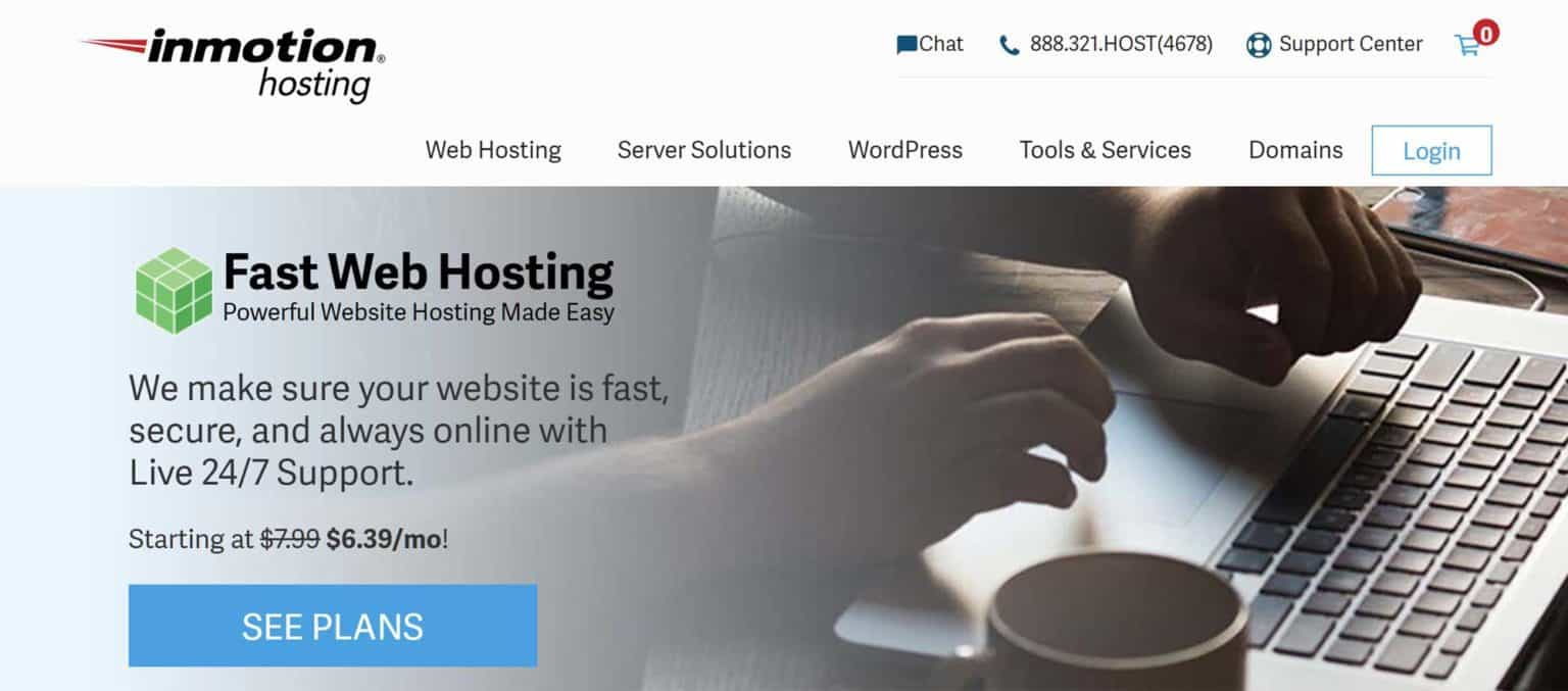InMotion-best cheap wordpress hosting price