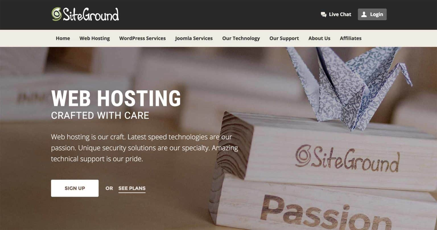 SiteGround-wordpress hosting service
