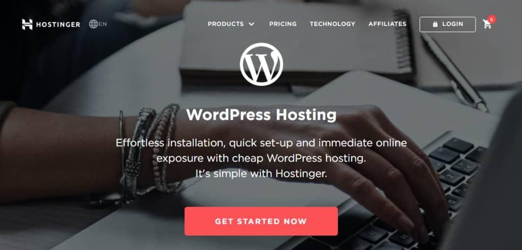 Hostinger is the cheapest WordPress hosting service
