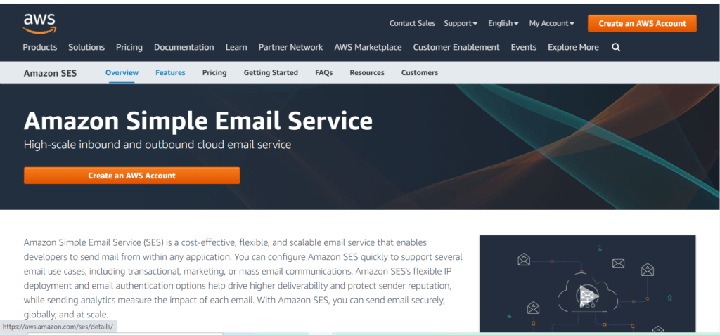 Amazon email hosting