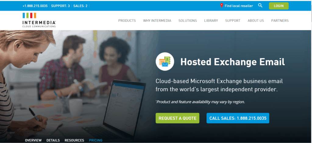 intermedia exchange email hosting