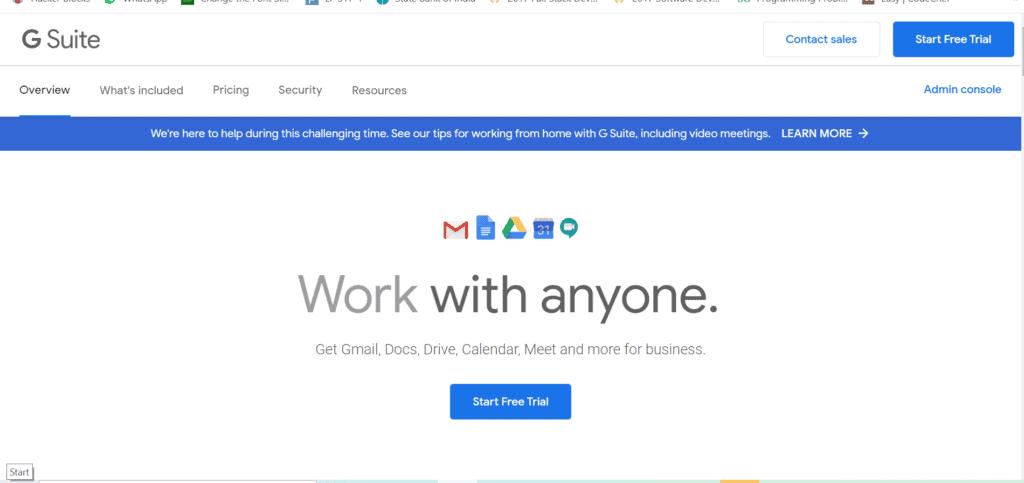 Google G suite email hosting