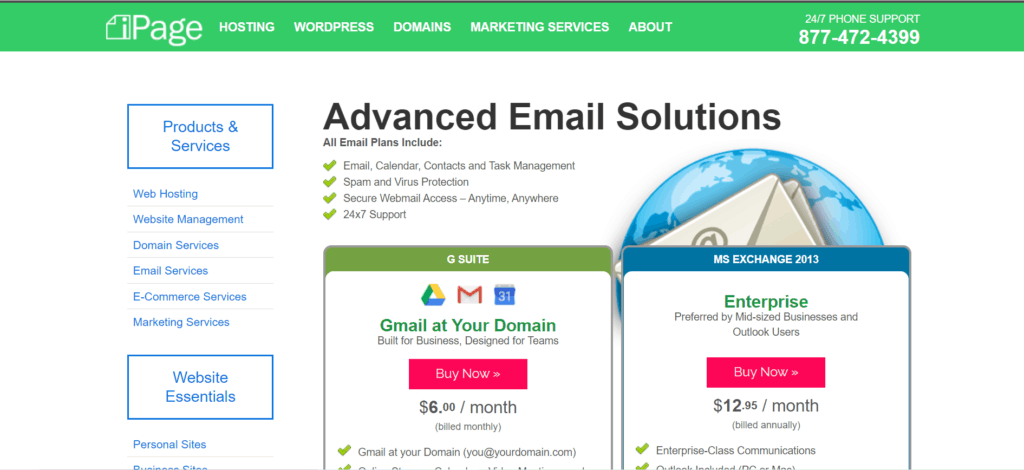 ipage email hosting