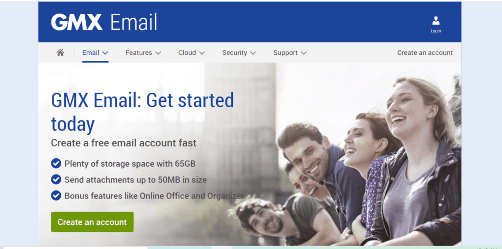 GMX email hosting