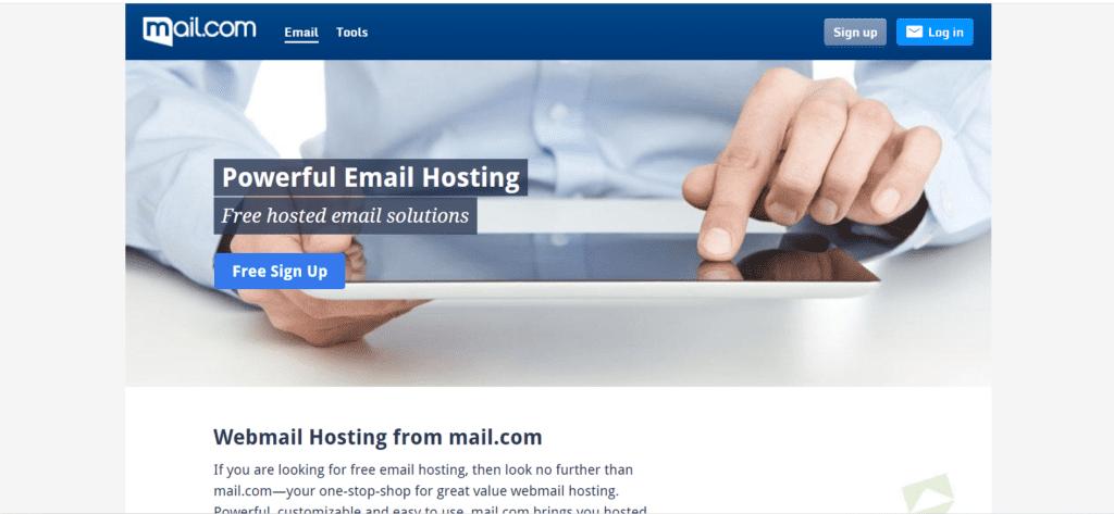 Mail.com email hosting