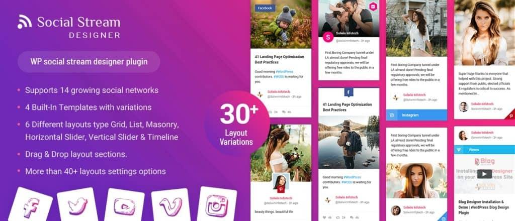 Social Stream Designer WordPress Plugin