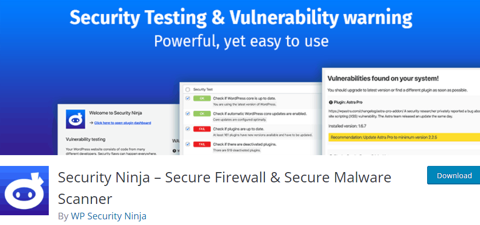 Security Ninja- Secure Firewall & Secure Malware Scanner
