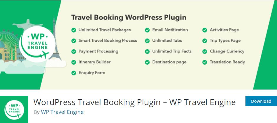 WordPress Travel Booking Plugin- WP Travel Engine