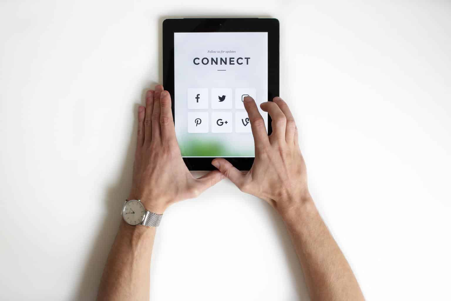 Connect social media option