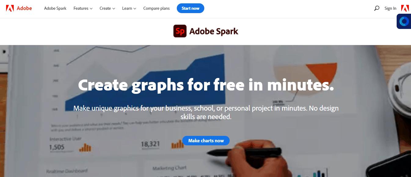 Adobe Spark Graph Maker